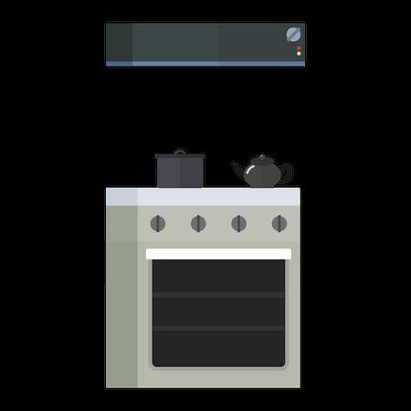 Disegno di cucina con cappa