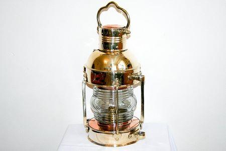 Lampada nautica in ottone verniciato