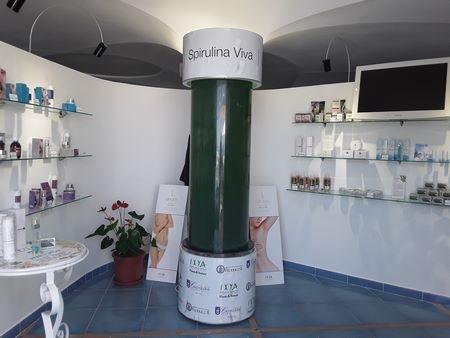 Impianto per la coltivazione di spirulina biologica del Parco Castiglione di Ischia