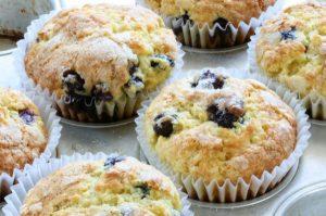 Muffins ai mirtilli cotti perfettamente