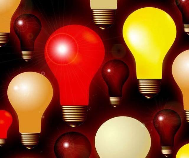 Lampadine colorate a rispoarmio energetico