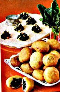 Palline di spinaci e salsiccia con finger food goloso