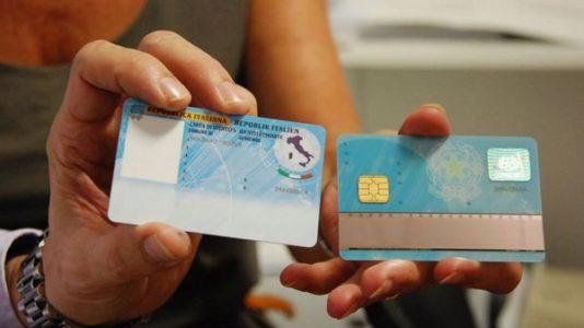 Immagine della carta d'identità elettronica italiana