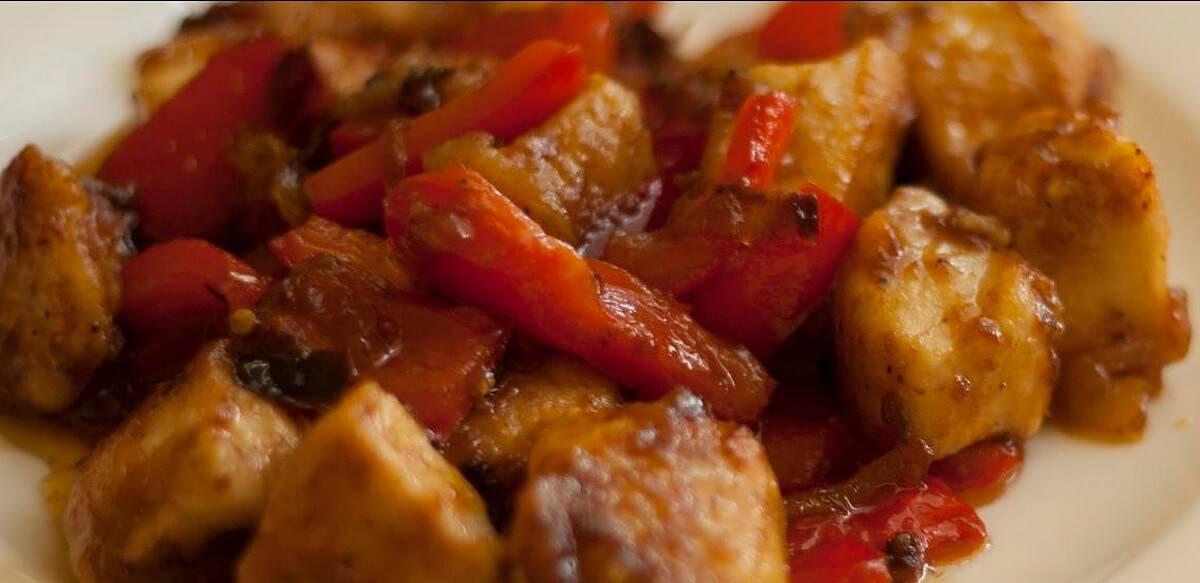 Umido di pollo e peperoni all'istriana