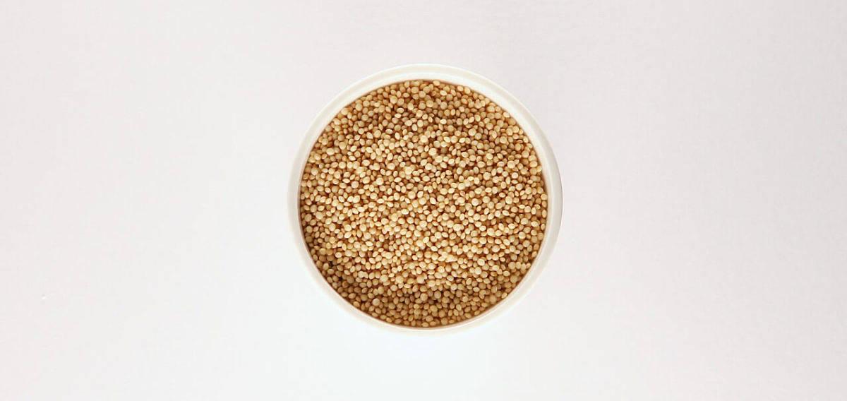 Immagine di contenitore contenente amaranto crudo da cuocere
