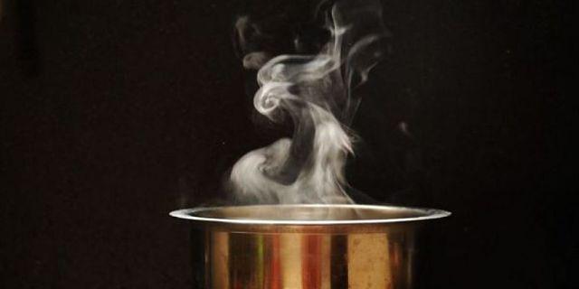 Fumento di vapore di acqua salata