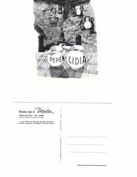 Cartolina d'epoca del ristorante Pepèn