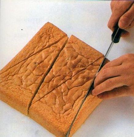 Come tagliare il pan di Spagna per lo zuccotto