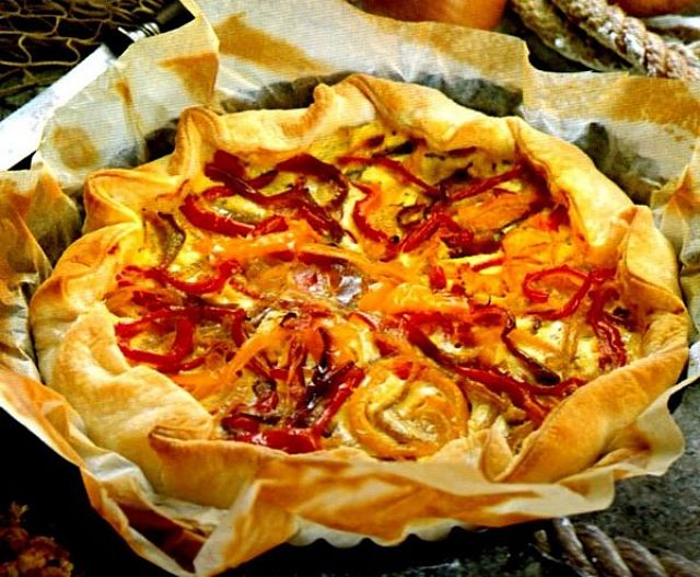 Torta salata di peperoni alla genovese