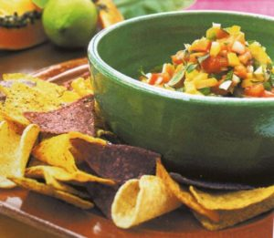 Tortillas con verdure e papaya