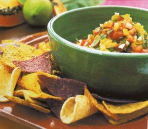 Tortillas con verdure e papaya