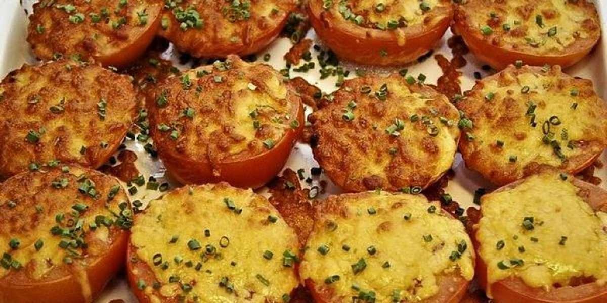 Pomodori gratinati al forno con fiordilatte fuso