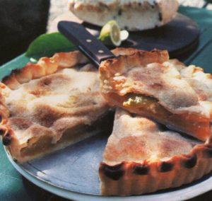 Crostata dolce di pomodori verdi con doppia sfoglia