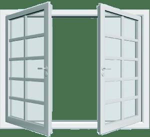 Finestra in alluminio smaltato bianco