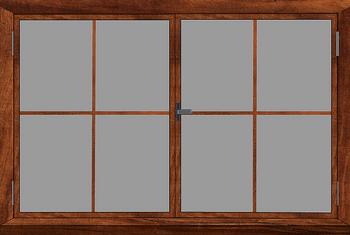 Finestra in legno impregnato