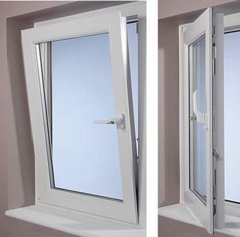 Serramenti di finestra in PVC ad alta tenuta termica