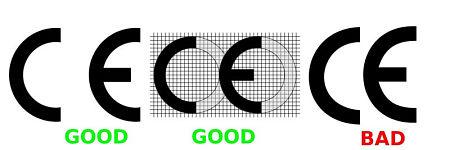 Il marchio CE originale e quello contraffatto