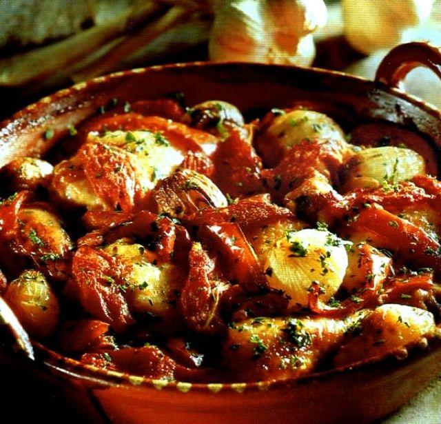 Pollo alla portoghese con prosciutto e Porto