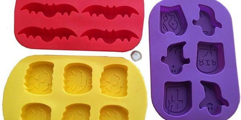 Set di 3 vaschette per ghiaccio con formine di Halloween