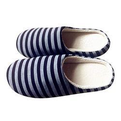Pantofole invernali unisex rigate