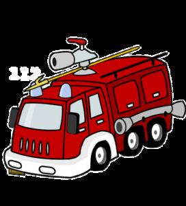 Disegno del camion dei Vigili del Fuoco