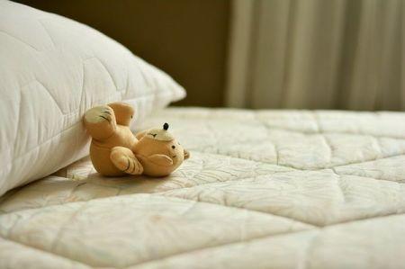 Cuscino e materasso non protetti dalla polvere