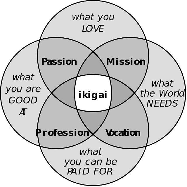 Le 4 domande alla base dell'Ikigai giapponese