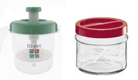 Arbanella e pressaverdura per preparare alimenti fermentati in casa