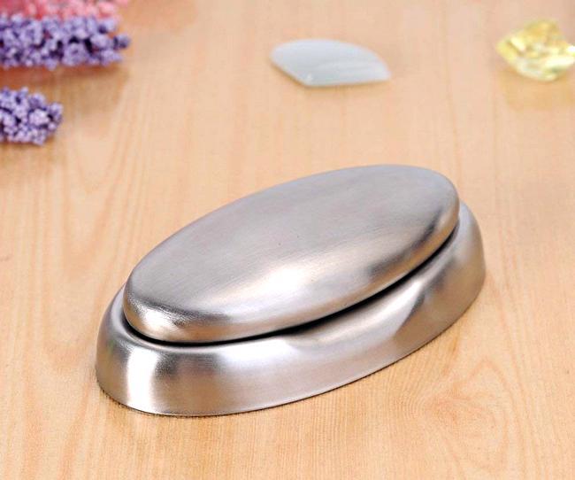 La saponetta in acciaio inox serve per eliminare gli odori spiacevoli dalle mani