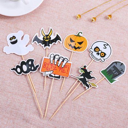 Stecchini per cibi adatti al buffet di Halloween