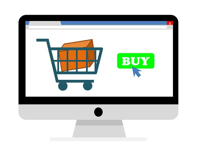 Vignetta di carrello di e-commerce con dentro articolo acquistato