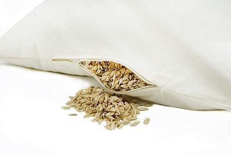 Cuscino biologico imbottito di pula di farro