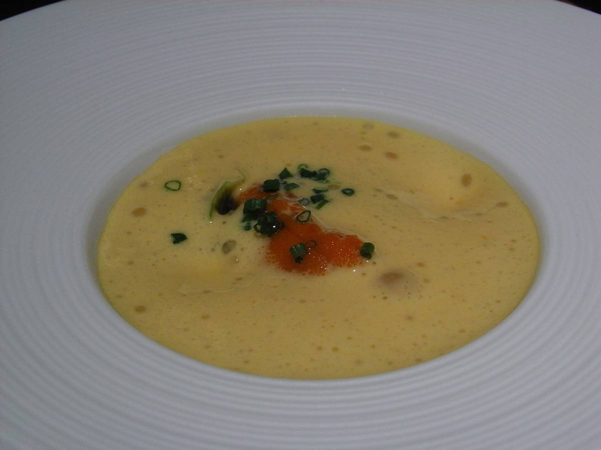 Potage Parmentier in piatto fondo