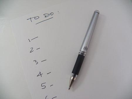 Scriversi una lista del da farsi in sequenza è di valido aiuto in tutto