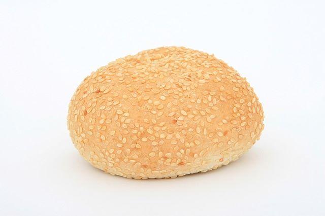 Panino da hamburger fresco