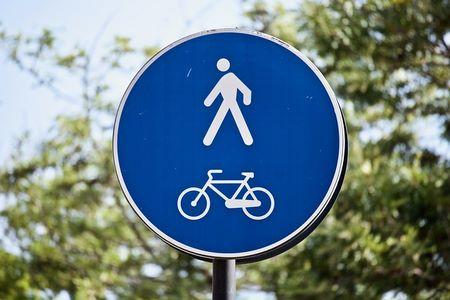 Simboli di circolazione consentita a pedoni e ciclisti