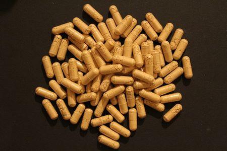 polvere di zenzero in capsule