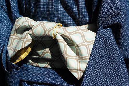 Iukata da uomo con cintura obi