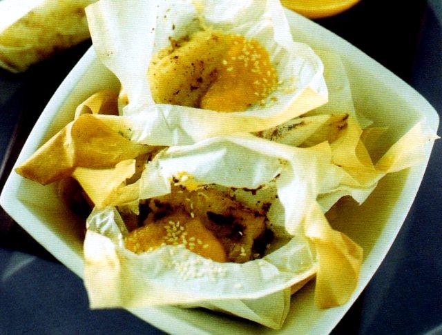 Banane al cartoccio cotte al forno omogeneamente
