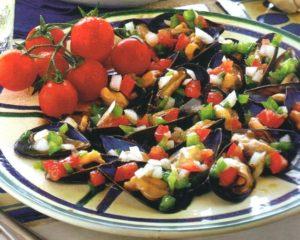 Insalata di cozze e verdure