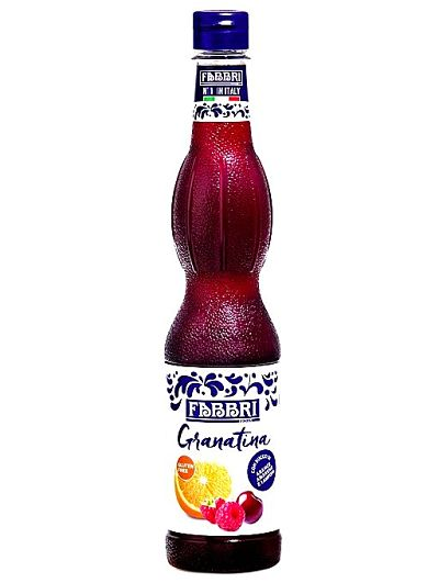 Sciroppo alla granatina in bottiglia della marca Fabbri