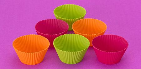 Pirottini da muffins in silicone alimentare