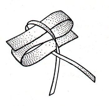 Immagine illustrativa della preparazione del fiocco per scarpine