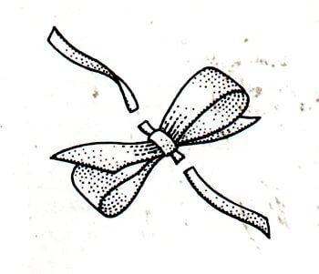 Immagine illustrativa della seconda fase preparazione del fiocco per scarpine