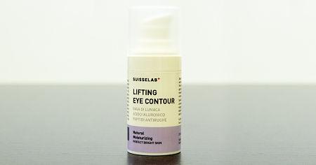 Confezione bianca e grigia della crema Lifting Eye Contour