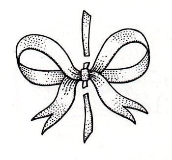 Immagine illustrativa della terza fase del fiocco nodo d'amore fai da te