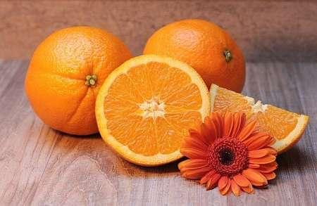 Interno di arancia di varietà gialla