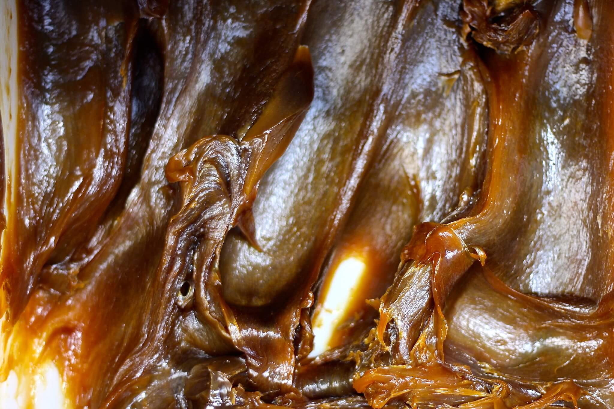 Aspetto cremoso del sapone nero del Marocco