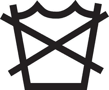 Simbolo che indica che un tessuto non è lavabile ad acqua