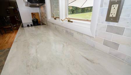 Top di marmo in cucina